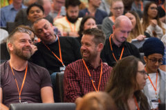 The UX Conference in September 2018 guests enjoying the talks